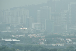 August 3, 2017 - Kuala Lumpur, KUALA LUMPUR, MALAYSIA - Haze seen in Kuala Lumpur, Malaysia on August 03, 2017. Malaysia said haze from Indonesia is unlikely to affect Malaysia and It also will be effected with the SEA Games Kuala Lumpur is hosting later this month. Natural Resources and Environment Minister Datuk Seri Wan Junaidi Tuanku Jaafar said on August 02 he would meet the relevant Indonesian minister to convey Malaysia's offer of assistance. (Credit Image: © Chris Jung via ZUMA Wire)