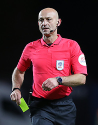 """Referee Roger East during the Carabao Cup third round match at the Kassam Stadium, Oxford. PRESS ASSOCIATION Photo. Picture date: Tuesday September 25, 2018. See PA story SOCCER Oxford. Photo credit should read: Andrew Matthews/PA Wire. RESTRICTIONS: EDITORIAL USE ONLY No use with unauthorised audio, video, data, fixture lists, club/league logos or """"live"""" services. Online in-match use limited to 120 images, no video emulation. No use in betting, games or single club/league/player publications"""