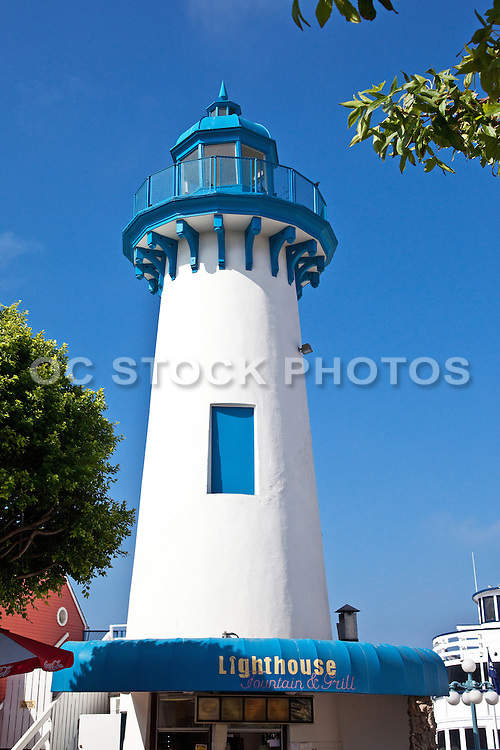 Lighthouse Fountain And Grill At Marina Del Rey