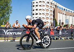 07.07.2019, Klagenfurt, AUT, Ironman Austria, Radfahren, im Bild Kristian Hogenhaug (DAN) // Kristian Hogenhaug (DAN) during the bike competition of the Ironman Austria in Klagenfurt, Austria on 2019/07/07. EXPA Pictures © 2019, PhotoCredit: EXPA/ Johann Groder