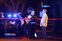 June 7, 2017 - Chicago, IL, USA - Police work the scene of an officer-involved shooting near the 2900 block of North Newland Avenue in the Montclare neighborhood on Wednesday, June 7, 2017 in Chicago, Ill. (Credit Image: © Armando L. Sanchez/TNS via ZUMA Wire)