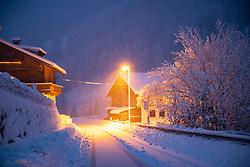 THEMENBILD - Schneesituation auf der Kalser Landestrasse L026 bei Staniska, aufgenommen am Samstag, 5. Dezember 2020, in Osttirol. Der Winter macht sich in Teilen Österreichs mit enormen Schnee- und Regenmengen bemerkbar. In Osttirol und Oberkärnten ist von Freitag auf Samstag die Schneedecke um rund 50 bis 70 Zentimeter gewachsen. Mancherorts herrschte rote und damit höchste Wetterwarnung // Newsnow situation on the Kalser Landestrasse, taken on Saturday, December 5, 2020, in East Tyrol. The winter is making itself felt in parts of Austria with enormous amounts of snow and rain. In East Tyrol and Upper Carinthia, the snow cover has grown by about 50 to 70 centimeters from Friday to Saturday. In some places there were red and therefore highest weather warnings. EXPA Pictures © 2020, PhotoCredit: EXPA/ Johann Groder