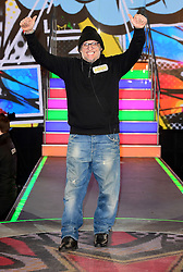 Brandon Block enters the Celebrity Big Brother house at Elstree Studios in Borehamwood, Herfordshire, during the latest series of the Channel 5 reality TV programme.