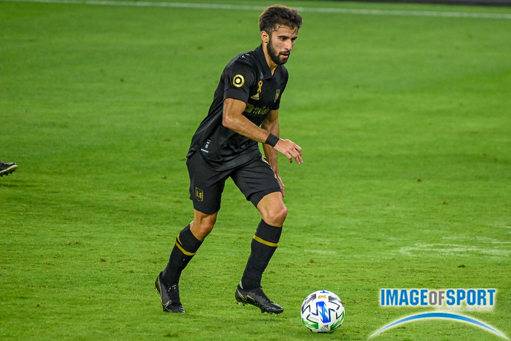 LAFC forward Diego Rossi (9) during a MLS soccer game, Sunday, Sept. 27, 2020, in Los Angeles. The San Jose Earthquakes defeated LAFC 2-1.(Dylan Stewart/Image of Sport)