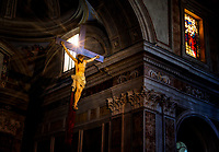 """Heavenly rays of light illuminate the crucifix - Cathedral of Sorrento""…<br />