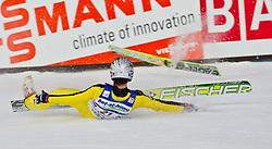 05.02.2011, Heini Klopfer Skiflugschanze, Oberstdorf, GER, FIS World Cup, Ski Jumping, Finale, im Bild Sturz von Anders Jacobsen (NOR) er hat den Sprung nicht gestanden, during ski jump at the ski jumping world cup in Oberstdorf, Germany on 05/02/2011, EXPA Pictures © 2011, PhotoCredit: EXPA/ P. Rinderer