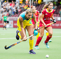 BRUSSEL - Madison Fitzpatrick (Aus.)  and Maria LOPEZ (SPA)    during AUSTRALIA v SPAIN , Fintro Hockey World League Semi-Final (women) . COPYRIGHT KOEN SUYK