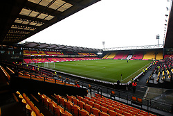 A general view of Vicarage Road, home of Watford - Mandatory by-line: Robbie Stephenson/JMP - 06/01/2018 - FOOTBALL - Vicarage Road - Watford, England - Watford v Bristol City - Emirates FA Cup third round proper