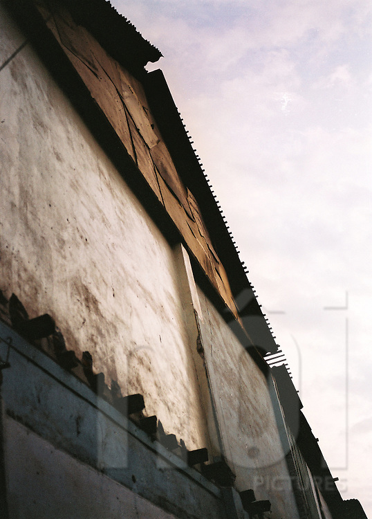 Wall of an old house, Vientiane, Laos, Asia