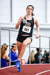 David Hemery Valentine Invitational<br /> Indoor Track & Field at Boston University , womens 500 meters, heat 3, Brown,