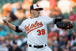 May 31, 2017 - Baltimore, MD, USA - Baltimore Orioles pitcher Kevin Gausman works against the New York Yankees in the first inning at Oriole Park at Camden Yards in Baltimore on Wednesday, May 31, 2017. The Orioles won, 10-4. (Credit Image: © Michael Ares/TNS via ZUMA Wire)