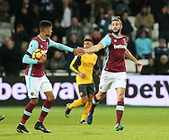 West Ham's Andy Carroll celebrates scorign his sides goal during the Premier League match at the London Stadium, London. Picture date December 3rd, 2016 Pic David Klein/Sportimage