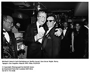 Michael Caine & Jack Nicholson at  SwiftyLazar's last Oscar Night  Party. Spago's. Los Angeles. March 1993. Film. 93239/29<br />