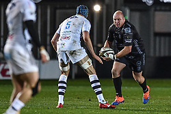 Brok Harris of Dragons in action during todays match<br /> <br /> Photographer Craig Thomas/Replay Images<br /> <br /> Guinness PRO14 Round 7 - Dragons v Zebre - Saturday 30th November 2019 - Rodney Parade - Newport<br /> <br /> World Copyright © Replay Images . All rights reserved. info@replayimages.co.uk - http://replayimages.co.uk