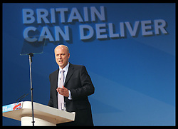 Justice Secretary Chris Grayling speech at the Conservative Party Conference in Birmingham, Tuesday, 9th October 2012. Photo by: Stephen Lock / i-Images