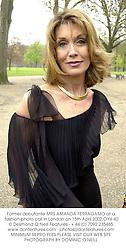 Former debutante MRS AMANDA FERRAGAMO at a fashion photo call in London on 15th April 2002.OYX 40