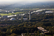 Nederland, Gelderland, Arnhem, 03-10-2010; koepelgevangenis en zendtoren / zendmast..luchtfoto (toeslag), aerial photo (additional fee required).foto/photo Siebe Swart
