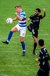 Deen van Embricqs of VV Maarssen in action. First friendly match after the Corona outbreak. VV Maarssen lost the away match against big league Spakenburg 5-1 on 4 July 2020 in Spakenburg.