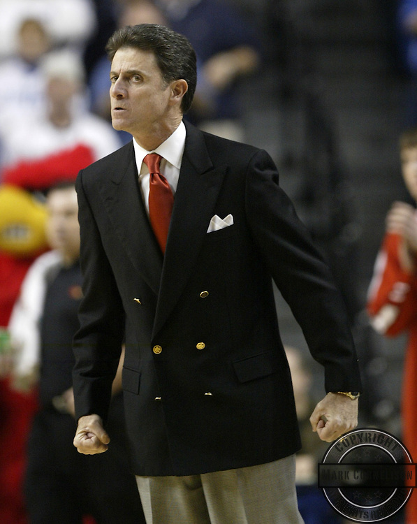 Louisville coach Rick Pitino was not happy with his team or the officials during the second half as Kentucky played Louisville at Rupp Arena on Saturday December 17, 2005 in Lexington, Ky. Mark Cornelison/Staff