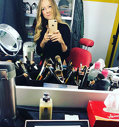 """Jenny Elvers releases a photo on Instagram with the following caption: """"GUTEN MORGEN #dreharbeiten #dreh #movie #schauspiel #acting #maske #earlybird #workingmom #\ud83d\udc8b"""". Photo Credit: Instagram *** No USA Distribution *** For Editorial Use Only *** Not to be Published in Books or Photo Books ***  Please note: Fees charged by the agency are for the agency's services only, and do not, nor are they intended to, convey to the user any ownership of Copyright or License in the material. The agency does not claim any ownership including but not limited to Copyright or License in the attached material. By publishing this material you expressly agree to indemnify and to hold the agency and its directors, shareholders and employees harmless from any loss, claims, damages, demands, expenses (including legal fees), or any causes of action or allegation against the agency arising out of or connected in any way with publication of the material."""