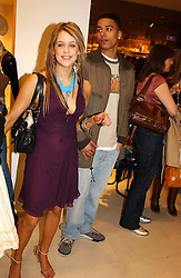 PEACHES GELDOF daughter of Bob Geldof and TEO ELDER  at a party to celebrate the opening of the new H&M Flagship Store at 17-21 Brompton Road, London SW3 on 23rd March 2005.<br />