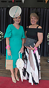 17/08/2017   Winner of the best dressed competition Leanne O'Malley from Maam and Tina Staunton Clifden runner up at the Connemara Pony Show in Clifden. Photo:Andrew Downes, xposure