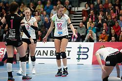 20190131 NED: Semi Final Cup Sliedrecht Sport - Eurosped, Sliedrecht <br />Daphne Knijff (7) of Team Eurosped Twente, Rochelle Wopereis (12) of Team Eurosped Twente<br />©2019-FotoHoogendoorn.nl / Pim Waslander