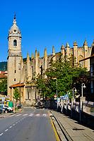 Espagne, Pays Basque, Biscaye, Lea-Artibai, Lekeitio, Basilique Notre-Dame de l'Assomption // Spain, Basque Country, Biscay, Lea-Artibai, Lekeitio, Basilica of Our Lady of the Assumption