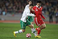 20100303: COIMBRA, PORTUGAL - Portugal vs China: International Friendly. In picture: Cristiano Ronaldo (Portugal) and Zheng Zhi (China). PHOTO: CITYFILES