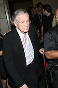 Hugh Hefner at the Celebrity Catwalk co-sponsored by Alize held at The Highlands Club on August 28, 2008 in Los Angeles, California..Celebrity Catwork for Charity, a fashion show/lifestyle event, raises funds & awareness for National Animal Rescue.