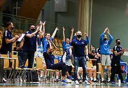 Team Slovenia reacts during friendly basketball match between Women National Teams of Slovenia and Montenegro, on May 21, 2021 in Arena Tri Lilije, Lasko, Slovenia. Photo by Vid Ponikvar / Sportida