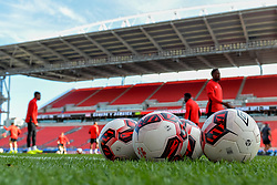 September 1, 2017 - Toronto, Ontario, Canada - Football balls during open training session conference in Toronto before the Canada-Jamaica Men's International Friendly match at BMO Field in Toronto Canada September 2, 2017  (Credit Image: © Anatoliy Cherkasov/NurPhoto via ZUMA Press)