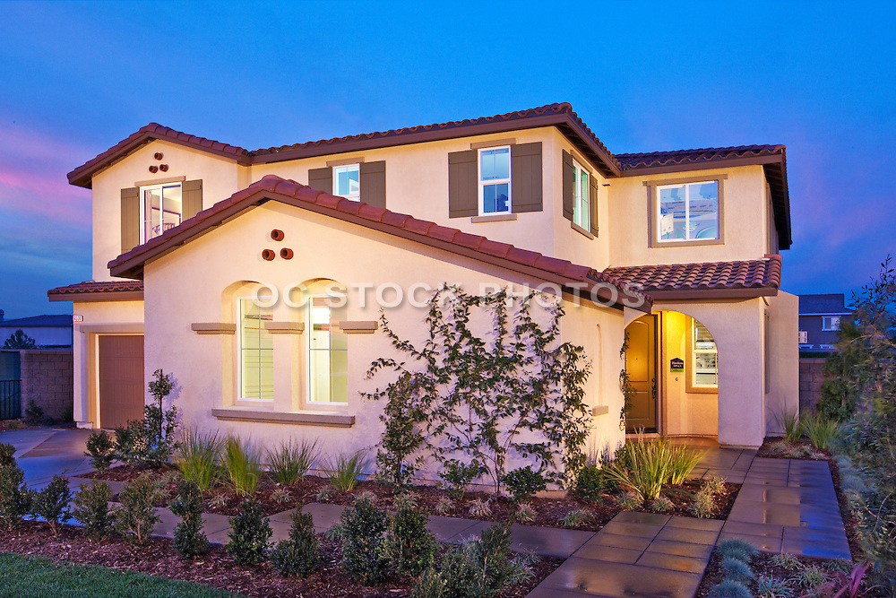 New Single Family Residence Landscaped
