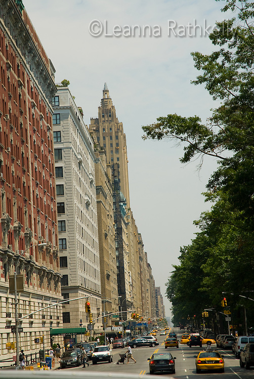 The Upper Westside apartments look over Central Park in downtown New York City, NY, USA.