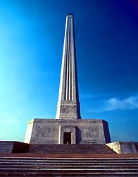 Stock photo of the San Jacinto Monument at the Houston Ship Channel in Houston Texas