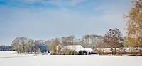 boerderij ten Dam in de sneeuw aan de Rotersweg in Beckum, Hengelo, Overijssel, the Netheralnds