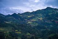Mountainous landscape along the road between Bac Ha and Coc Pai (Xin Man), Vietnam, Southeast Asia