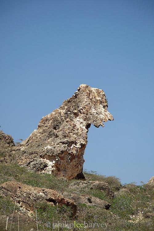 Rock formations at the coast of Nugad, Socotra, Yemen