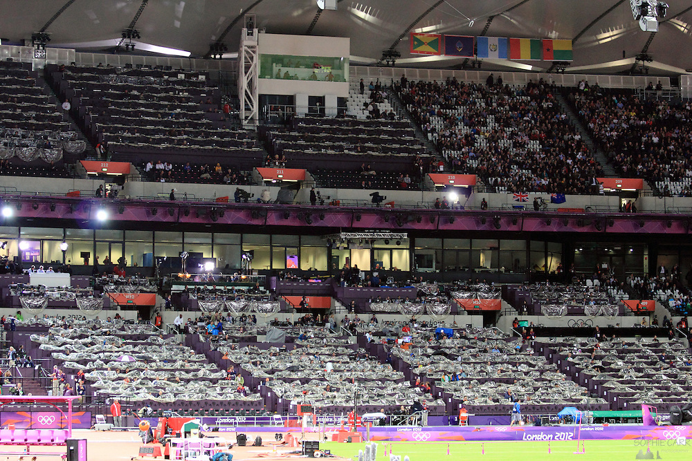 Athletics Events at the Olympic Stadium at the 2012 London Olympics on 6th August 2012