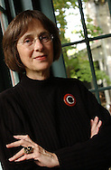 Gail Mazur, Distinguished Writer in Residence at Emerson College and Founding Director of the Blacksmith House Poetry Series in Cambridge, photographed in 2002.