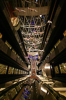 The launch of Royal Caribbean International's Oasis of the Seas, the worlds largest cruise ship..A lift atrium.