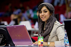 Journalist of Iran during  the Preliminary Round - Group B basketball match between National teams of Slovenia and Iran at 2010 FIBA World Championships on September 2, 2010 at Abdi Ipekci Arena in Istanbul, Turkey. (Photo By Vid Ponikvar / Sportida.com)