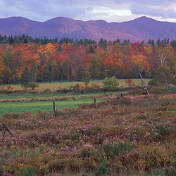 View of White Mountains.  Fall.  Sugar Hill, NH