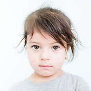 Berivam Hasn Abas a 3 year old Yazidi from Siba Sheikh Khidir, northern Iraq.<br /> <br /> This is a series of portraits of Yazidi refugees who were stranded since April 2016 in Greece.  All of them survived the Yazidi Genocide by ISIS in August 2014 and most of them have lost family members.