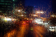 UK ENGLAND LONDON 21NOV02 - Rain on the windscreen of a double-decker bus.<br /> Photography by Jiri Rezac<br /> Tel 0044 07947 884 517<br /> www.linkphotographers.com