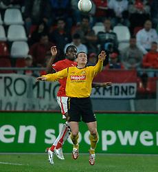 09-05-2007 VOETBAL: PLAY OFF: UTRECHT - RODA: UTRECHT<br /> In de play-off-confrontatie tussen FC Utrecht en Roda JC om een plek in de UEFA Cup is nog niets beslist. De eerste wedstrijd tussen beide in Utrecht eindigde in 0-0 / Francis Dickoh en Andres Oper<br /> ©2007-WWW.FOTOHOOGENDOORN.NL