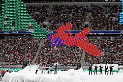 11.06.2011, Allianz Arena, Muenchen, GER, Stars die Winterspiele und Du , im Bild  Adoro auf der Buehne mit Symbolen der Olympischen Sportarten , EXPA Pictures © 2011, PhotoCredit: EXPA/ nph/  Straubmeier       ****** out of GER / SWE / CRO  / BEL ******