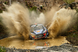 November 17, 2017 - New South Wales, Australia - HAYDEN PADDEN (NZL) and co-driver SEBASTIAN MARSHALL (GBR) of Hyundai Motorsport cross a creek during the Pilbara Stage on day one of the Rally Australia round of the 2017 FIA World Rally Championship in Australia. (Credit Image: © Panoramic via ZUMA Press)