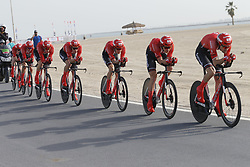 February 24, 2019 - Abu Dhabi, UNITED ARAB EMIRATES - Team Sunweb riders pictured in action during the first stage of the 'UAE Tour' 2019 cycling race, a 16km team time trial on the Al Hudayriat Island in Abu Dhabi, United Arab Emirates, Sunday 24 February 2019. This year's edition is taking place from 24 February to 2 March. ..BELGA PHOTO YUZURU SUNADA FRANCE OUT (Credit Image: © Yuzuru Sunada/Belga via ZUMA Press)