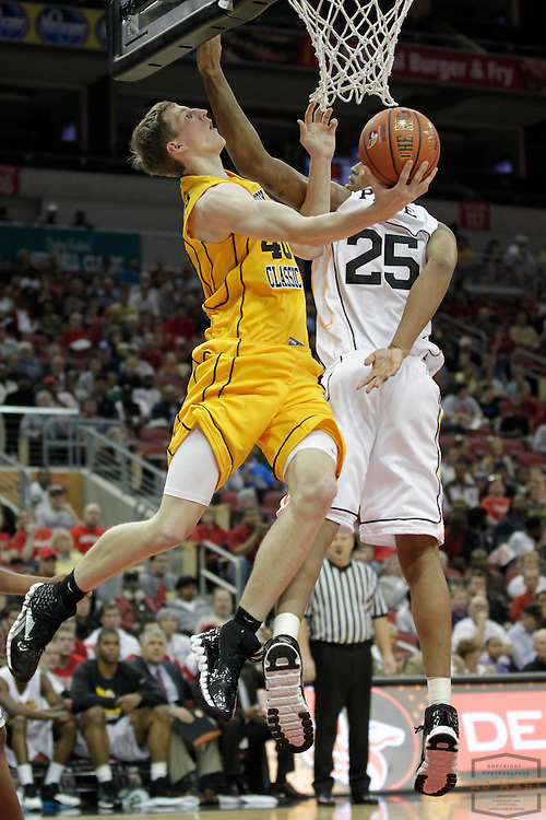 22 April 2011: Cody Zeller, committed to Indiana, plays in the Derby Classic in Louisville, KY.